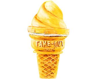 冷凍アイスクリーム